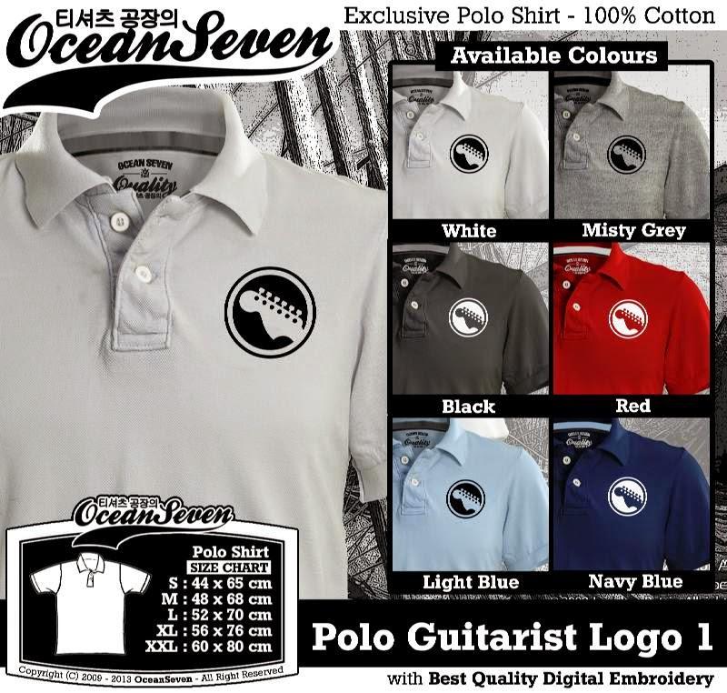 Kaos Polo Guitarist Logo 1