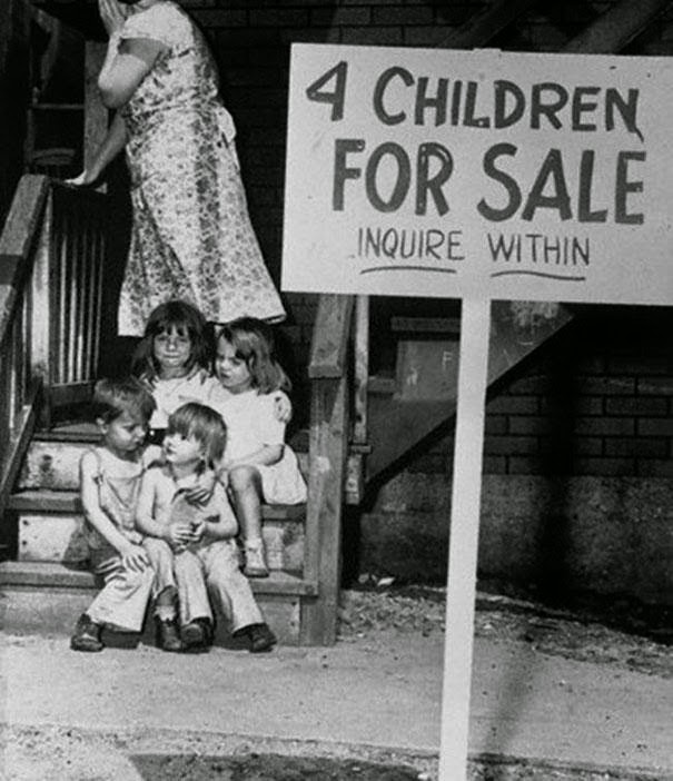 mother selling her 4 children