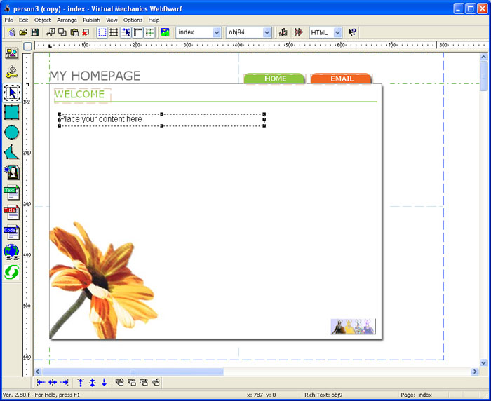 Easy web page maker with key 3.21