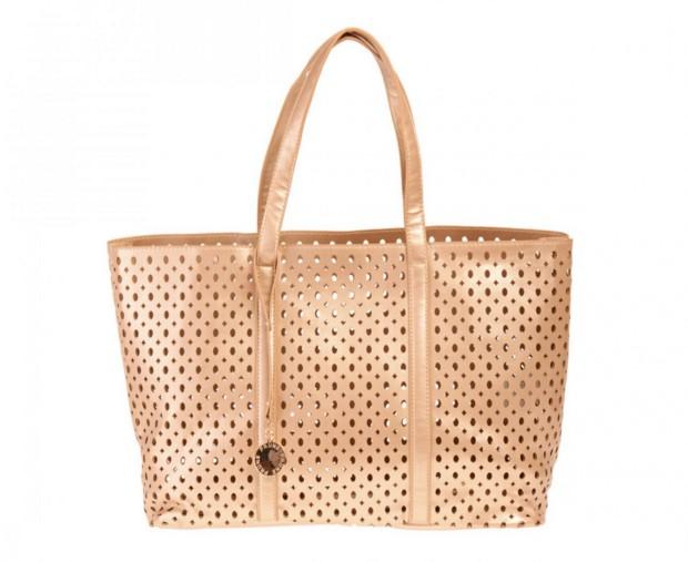 Cartera Shopper en color oro