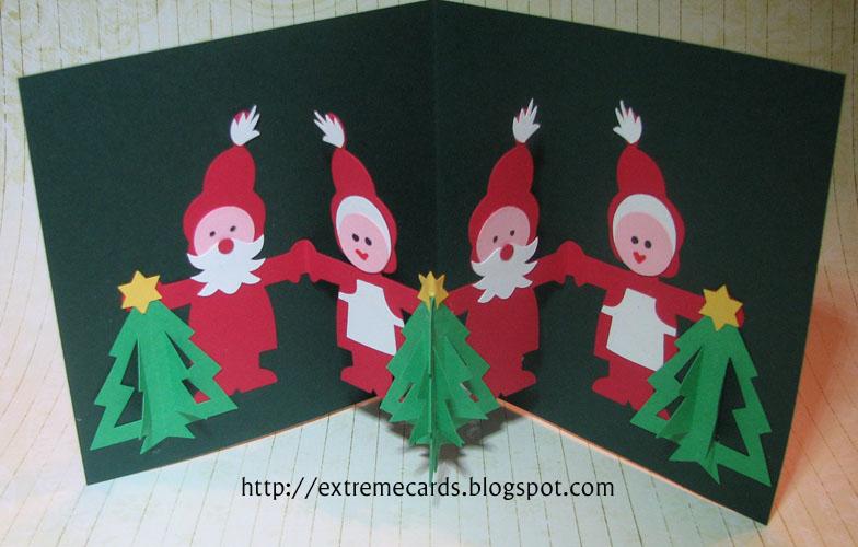 Santa Paper Doll Pop Up Card