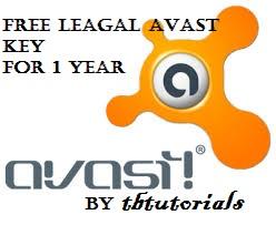 free legal avast key 2013 for 1 year