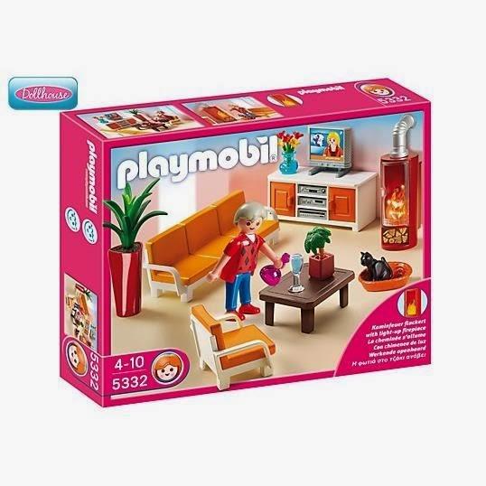 les meubles ont aussitt t installs pour former un joli salon o mamie playmobil peut tranquillement regarder la tv et loustic a mme voulu un second