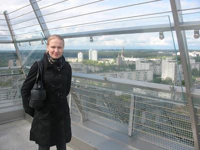 Минск, Белоруссия, Крыша Национальной Библиотека с видом на город 08.05.08
