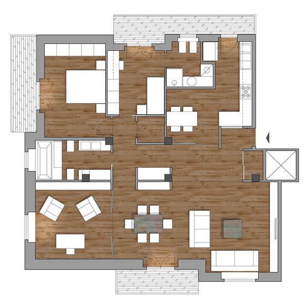 Appartamento a roma la proposta di cafelab coffee break for Appartamento design roma