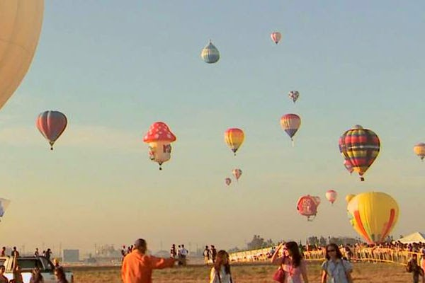 Hot air balloons festival at the Clark Freeport Zone, Pampanga