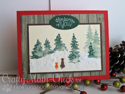 Snowy Scene card created by Crafty Math Chick | Whispering Pines by Newton's Nook Designs