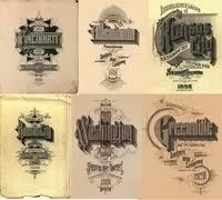 35 Portadas tipográficas entre 1880 y 1920.