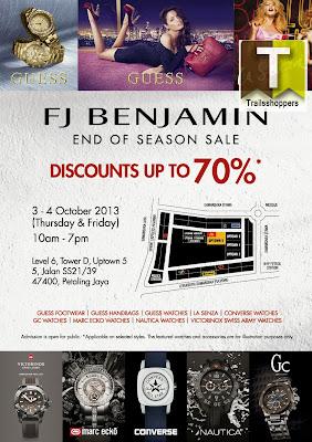 FJ Benjamin End Of Season Sale 2013 La Senza Guess Converse Marc Ecko Victorinox