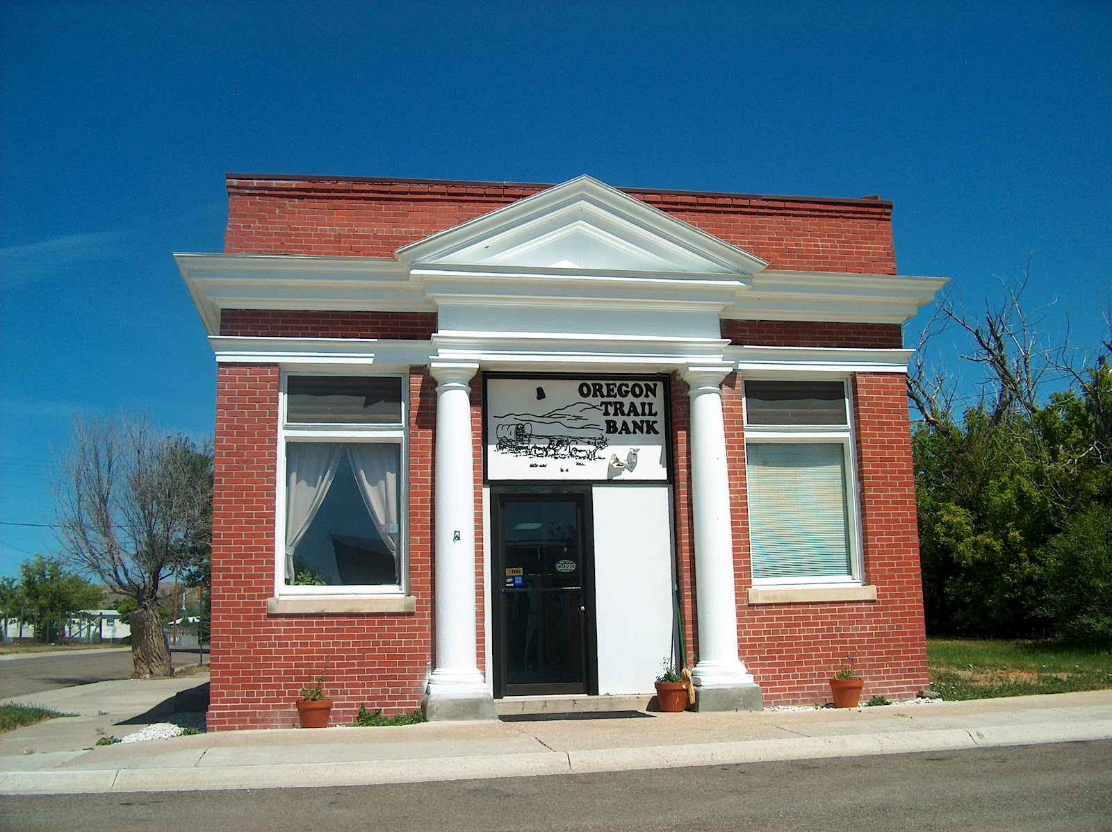 The whole town had an air of days gone by. I'm sure this bank is an ...