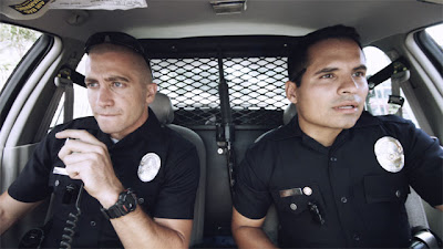 End of Watch movie - Jake Gyllenhaal and Michael Pena star in End of Watch as young Los Angeles police officers Taylor and Zavala as they patrol the city's meanest streets of south central Los Angeles.
