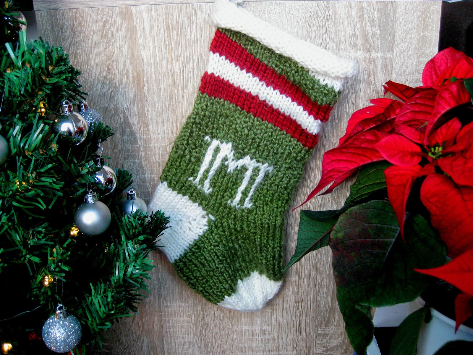 Christmas stocking that I knit for Marco
