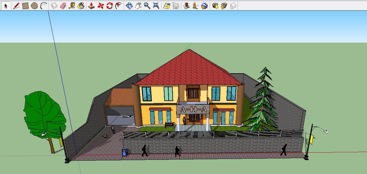 Free Download Template Rumah .SKP pada SketchUp