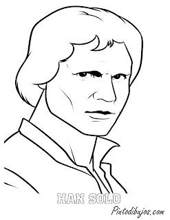 Han Solo para colorear