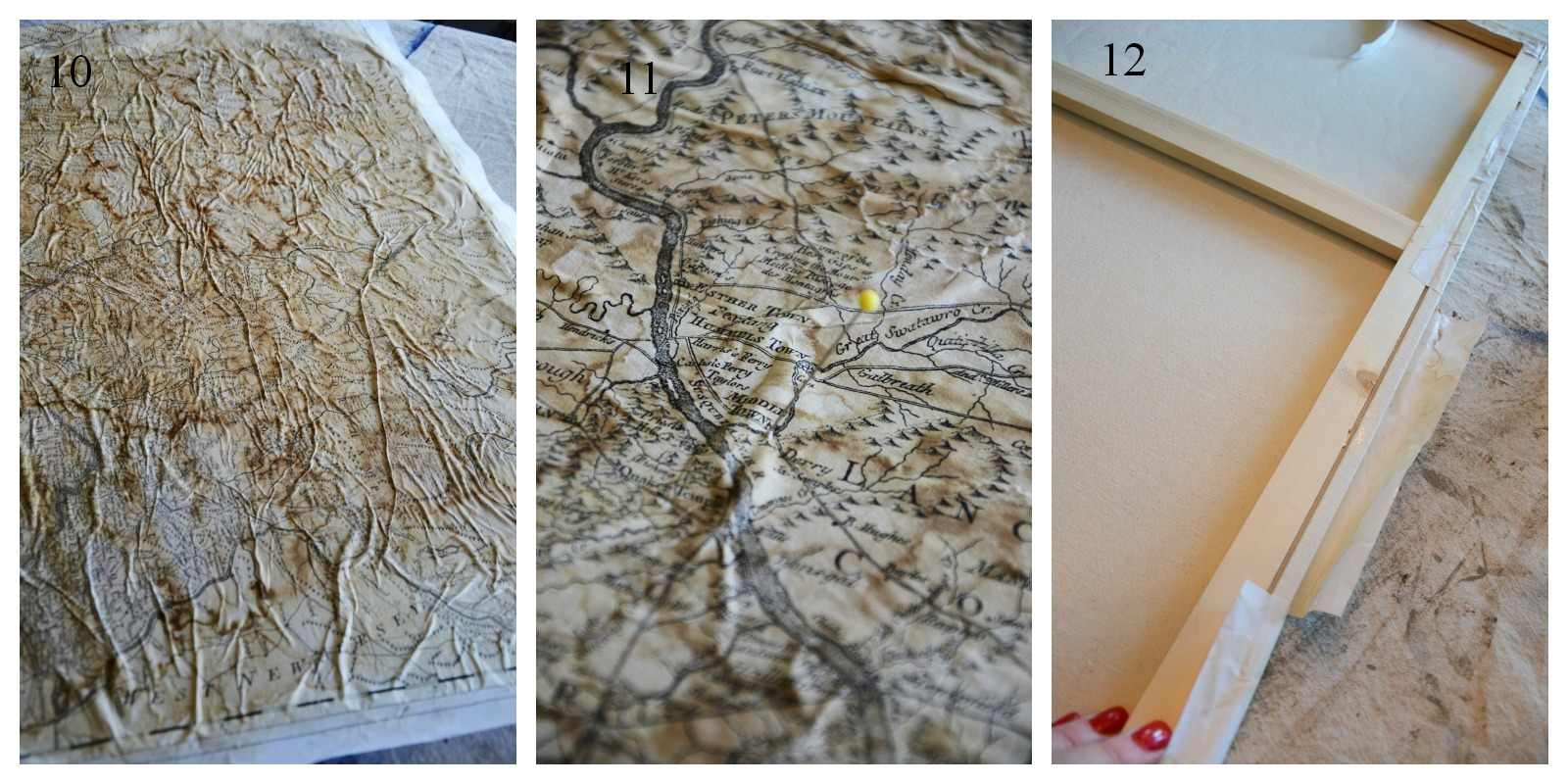 Mod Podge Kitchen Table Aging A Map Tutorial Stonegable
