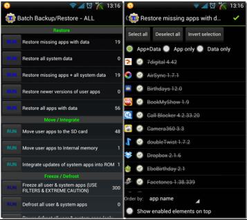 Restore Aplikasi Android Dengan Titanium Backup Aplikasi