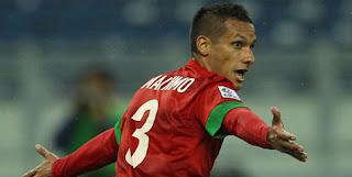 Raphael Maitimo Gembira saat Memasukkan Bola Ke gawang Laos