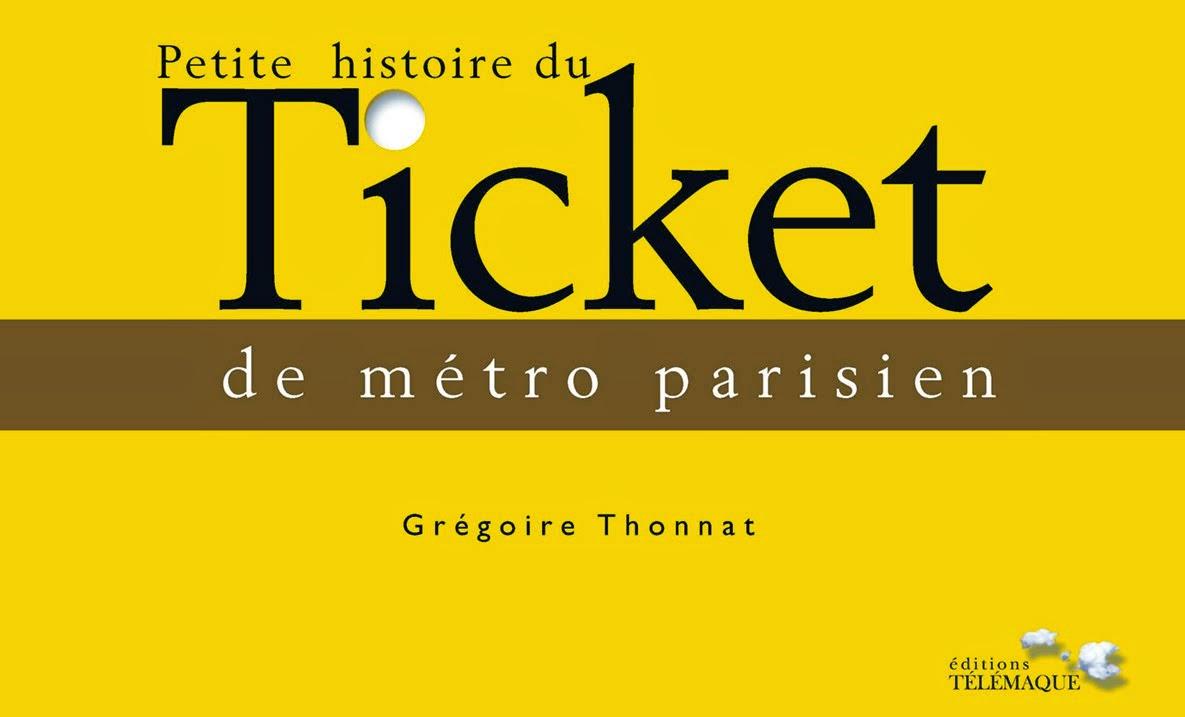 """présentation du livre """"petite histoire du ticket de métro parisien"""""""