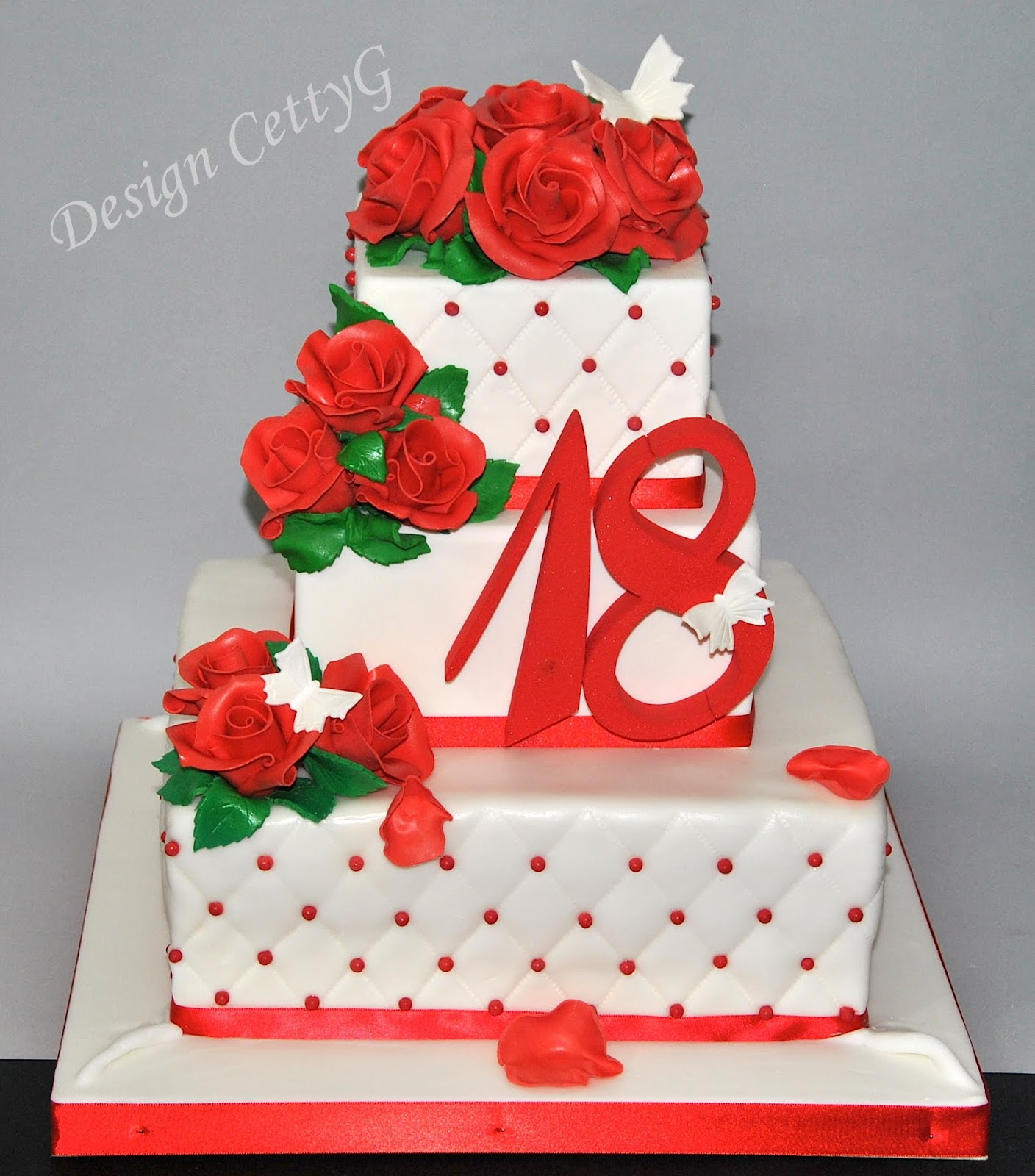 Favorito Le torte decorate di Cetty G: 18° Compleanno tra le rose. MT65