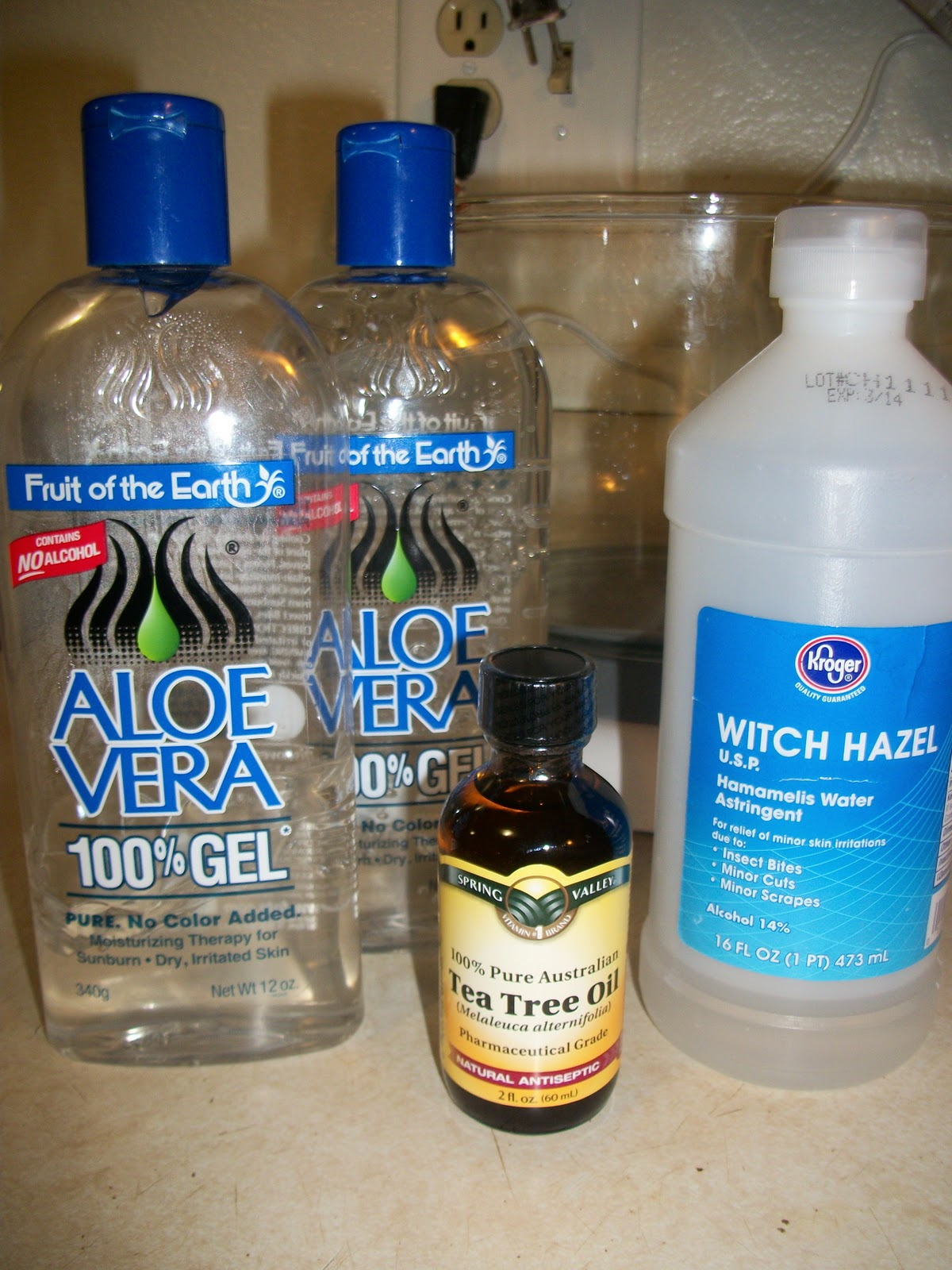 Alcohol free hand gel