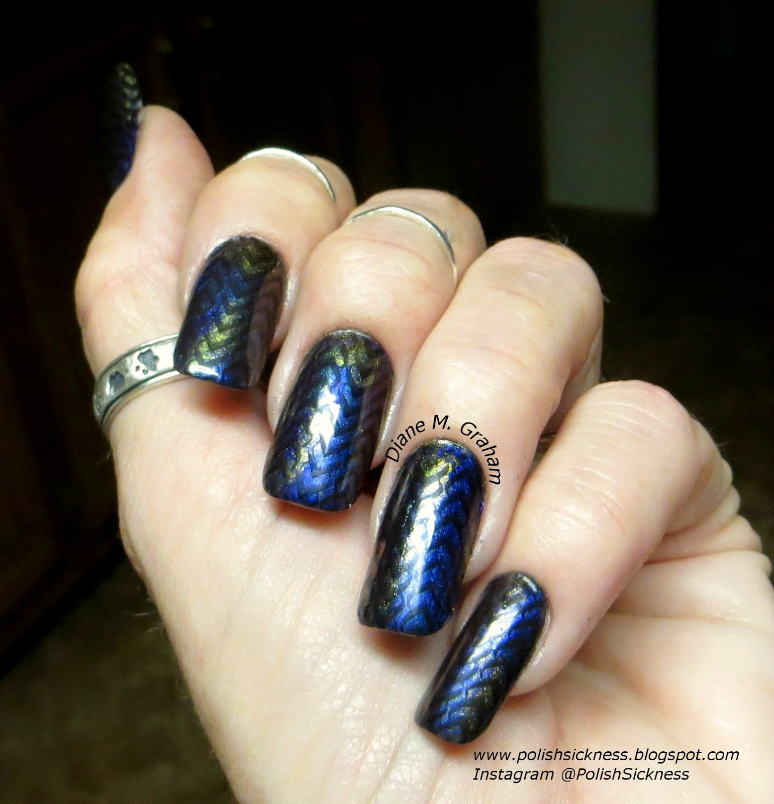 Ludurana Aurora Boreal Emocionate and Show, HITS Trendy, Ninja Polish DRK-C stamp