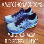 marathonmondaysbutton Random Thoughts about an Oil Spill, New Shoes, Boston Marathon and Track Tuesday