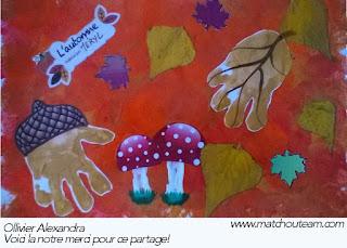 automne peinture enfant