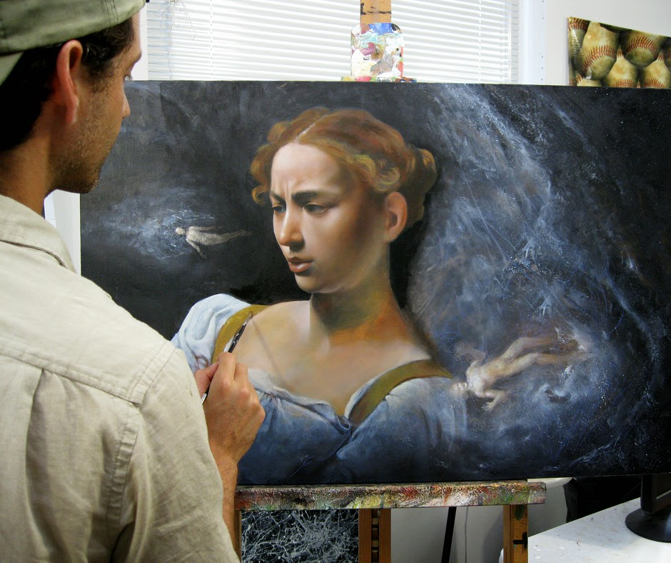 Michael Rousseau - Caravaggio - Judith study