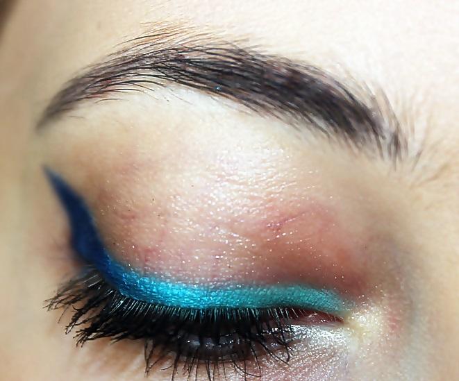 """""""Morskie oko"""". Makijaż na letni konkurs u Angeli:)"""