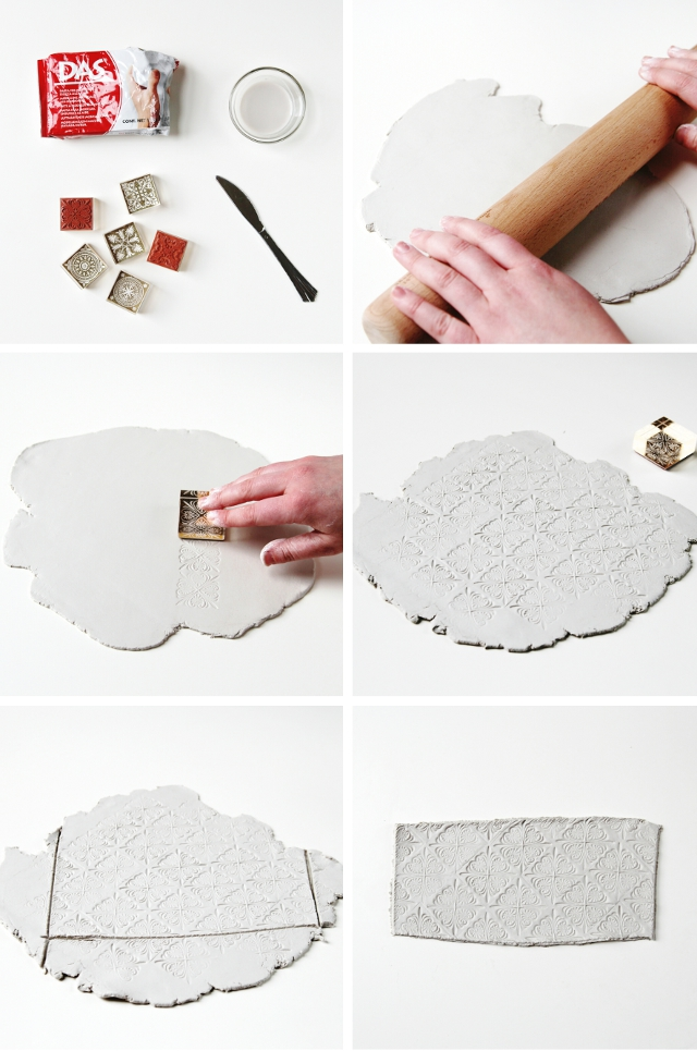 Make Diy Stamped Clay Pots