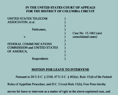 Free Press Motion to Intervene on behalf of FCC