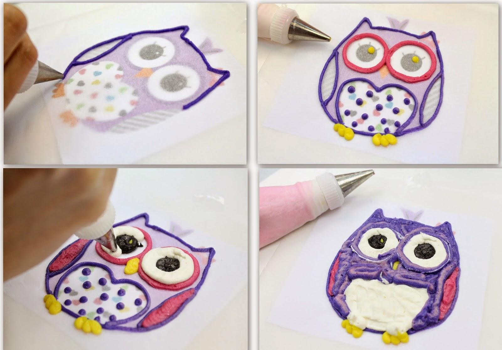 Complete Deelite: Whooo Whoo Owl Buttercream transfer ...
