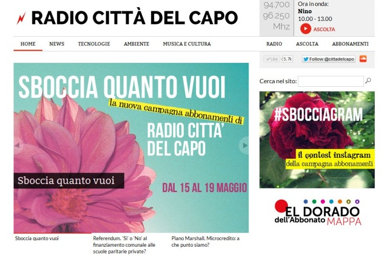 Radio Citt del Capo, il nuovo sito!