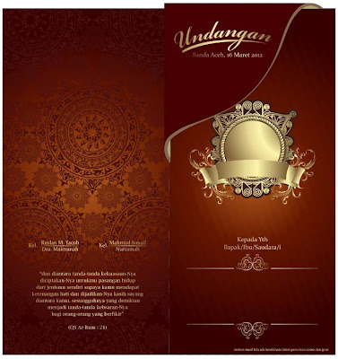 Contoh Desain Undangan Pernikahan