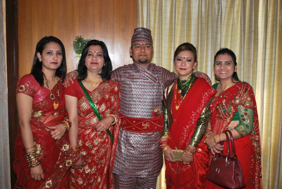 Local fashion: Nepali brides and grooms in traditional dress