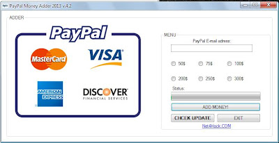 Paypal Money Adder 2013 v4.2