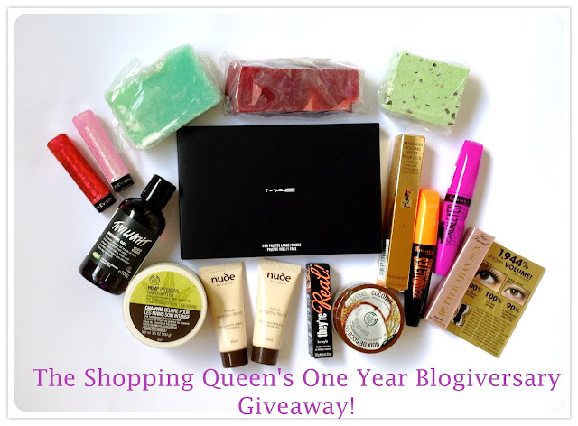 The Shopping Queen's One Year Blogiversary Giveaway!