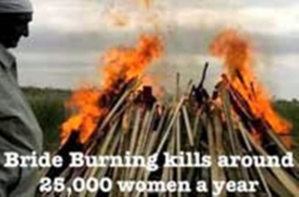 bride burning in india Practical steps towards saving the lives of 25,000 potential victims of dowry and bride-burning in india in web access to the journal of south asia women studies.