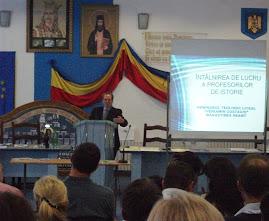 Aspecte din desfăşurarea consfătuirii profesorilor de istorie - discursul Prof. univ. dr. I. Scurtu