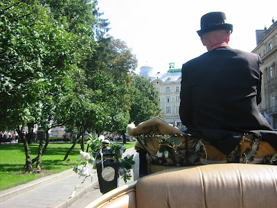 Horse and buggy ride, Lviv, Ukraine