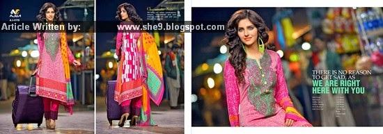 Ajwa Lawn Charismatic Noir Collection 2015 Vol. 3