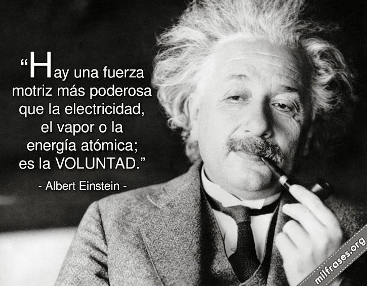 frases de Albert Einstein 1879-1955. Científico nacido en Alemania, nacionalizado estadounidense.