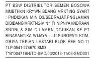 Lowongan Marketing PT. Binasantika Wijaya (Dist. Semen Bosowa) Samarinda