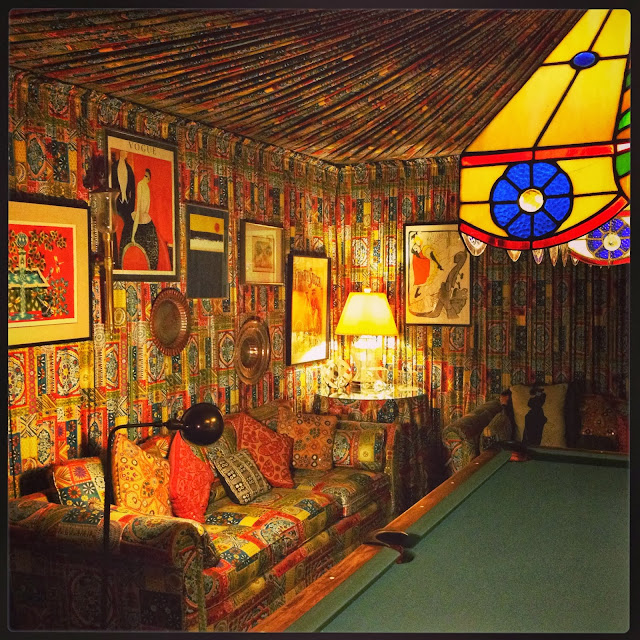 Graceland billiards room in Memphis on Semi-Charmed Kind of Life