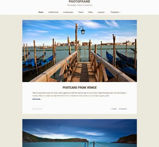 PhotoFrame Responsive Photography Theme
