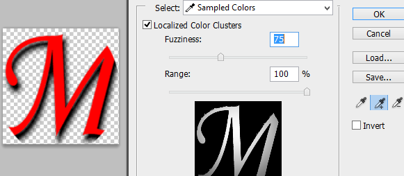 Color Range Window in Photoshop CS5