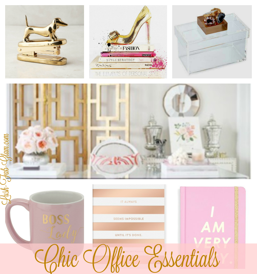 Glamorize your work space with these uber-chic office essentials!