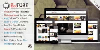 Download Free BeeTube v2.3.3 Themeforest Video WordPress Theme