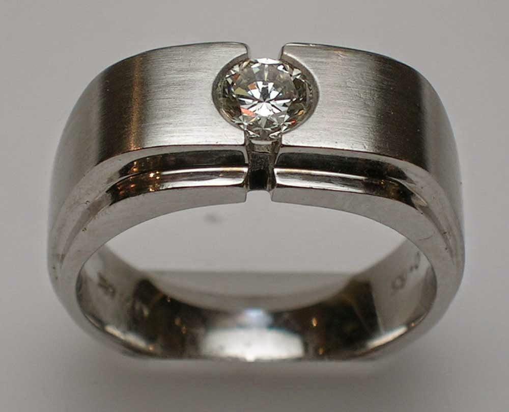 Unusual Mens Diamond Wedding Rings Stainless Steel Images