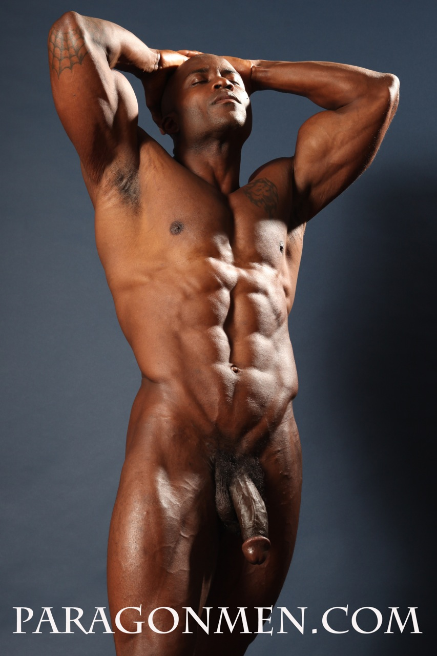 Black Muscle Nude 83